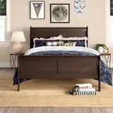 Charlton Home® Richard Sleigh Bed, Wood in Cappuccino, Size Queen | Wayfair CHLH2273 26059608