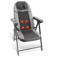 Electric Foldable Shiatsu Massage Chair - Neck and Back Portable Folding Home Seat Massager w/Power