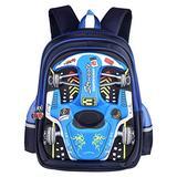 PGYFIS Waterproof Children Backpack Kid Backpack 3D Cute Car Cartoon School Backpack (blue)
