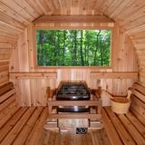 Almost Heaven Saunas Princeton 6 - Person Traditional Steam Sauna in Cedar in Brown, Size 77.0 H x 95.0 W x 72.0 D in | Wayfair AHPRINCEDVISTAWIN