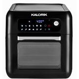 "Kalorik Kalorik 6 Quart Digital XL Air Fryer Oven w/ 9 Accessories & Recipe Book, Stainless Steel in Black, Size 14""H X 12""W X 13""D | Wayfair"