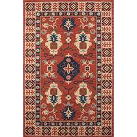 Momeni Rugs TANGITAN-3RED2030 Tangier Collection, 100% Wool Hand Tufted Tip Sheared Transitional Are