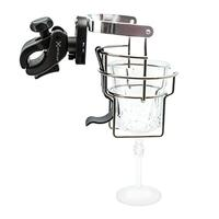 Xventure Griplox Stainless Steel Clamp Bracket Mount Drink Mug Holder for Marine Boat Rail with Dual