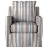 Sunset Trading Seaside Swivel Chair, Light Brown/Tan/Gray/Blue/White