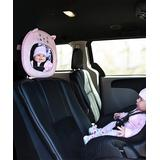 Little Me Car Seat Sun Shades and Mirrors - Pink Kitty Little Me Back Seat Baby View Mirror