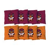 """Virginia Tech Hokies 8-Pack Tokyodachi Design Regulation Corn Filled Cornhole Bags"""