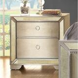 House of Hampton® Susann 2 Drawer Nightstand Wood in Brown   Wayfair CA867590E9A84C0EB51165F6123F24D8