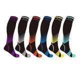 Knee-High Sport Compression Socks - 6 Pair