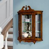 Astoria Grand Bedingfield Curio cabinetWood in Brown, Size 27.5 H x 21.0 W x 6.0 D in   Wayfair ASTG8113 37928696