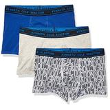 Kenneth Cole REACTION mens Kenneth Cole Reaction Men's Cotton Stretch Underwear, Multipack Trunks, Gryht/Skycrp/Southwest - 3 Pack, Small US