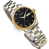 Ladies Watches with Date,Casual Quartz Stainless Steel Women Watch,Small Waterproof Watches for Women,Dress Ladies Watch,Classic Watch Women,Night Women Watch,Gold Women Watch,Black Face Women Watch