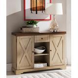 Pilaster Designs Console Tables Oak - Antique White & Walnut Buffet Cabinet Console Table