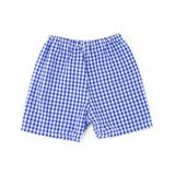 Caught Ya Lookin' Boys' Casual Shorts Blue - Royal Gingham Shorts - Infant & Toddler
