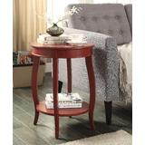 Aberta Side Table in Red - Acme Furniture 82787