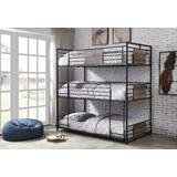 Brantley Bunk Bed - Triple Twin in Sandy Black & Dark Bronze Hand-Brushed - Acme Furniture 37820
