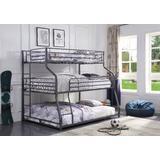 Caius II Bunk Bed - Triple Twin/Full/Queen in Gunmetal - Acme Furniture 37450