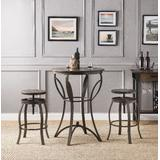 Gavino Bar Set (3Pc Pk) in Walnut & Sandy Black - Acme Furniture 71940