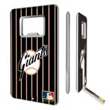 """San Francisco Giants 1958-1967 Cooperstown Pinstripe Credit Card USB Drive & Bottle Opener"""