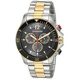 Wenger Men's Seaforce Swiss-Quartz Two-Tone-Stainless-Steel Strap, 22 Casual Watch (Model: 01.0643.113)