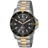 Wenger Men's Seaforce Stainless Steel Swiss-Quartz Two-Tone-Stainless-Steel Strap, 22 Casual Watch (Model: 01.0641.127)