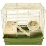 Ware Manufacturing Naturals Hamster Cage w/ Wheel Acrylic/Plastic/Metal in Green/Yellow, Size 14.75 H x 16.25 W x 12.25 D in | Wayfair 16062