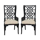 """Elk Home 659522PWMLB Bamboo Wing Back 24"""" Wide Two Piece Mahogany Dining Chair Set Black"""