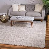 Unique Loom Davos Shag Contemporary Soft Cozy Area Rug, 8' 0 x 8' 0 Square, Linen