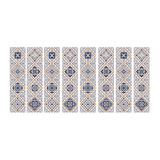Room Mates Mexican Tiles Giant Wall Decals, Blue
