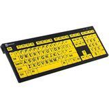 LogicKeyboard XL Print NERO PC Slim Line Black on Yellow Keyboard LKBU-LPBY-BJPU-US