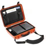 Seahorse 710CC Laptop Computer Case with Lid Organizer and Laptop Tray (Orange) 710CCOR
