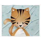 Isabelle & Max™ Lenard Kitten Triangle Ultra Soft Baby Blanket in Blue, Size 30.0 H x 40.0 W x 0.5 D in   Wayfair 87DAB000BF4B437D9834B34B0263E696