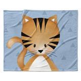 Isabelle & Max™ Lenard Kitten Triangle Ultra Soft Baby Blanket in Blue, Size 30.0 H x 40.0 W x 0.5 D in   Wayfair 4FC950E74193416CA81FEC399FF5DA94