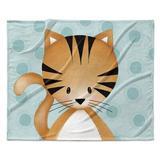 Isabelle & Max™ Lennie Kitten Ultra Soft Baby Blanket in Blue, Size 30.0 H x 40.0 W x 0.5 D in   Wayfair 622F4ACEDD754E459CA34D955B333B00