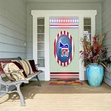 "Winston Porter Middlefield Patriotic Door Decor in Green, Size 0 L x 36"" W x 96"" H | Wayfair X111097833"
