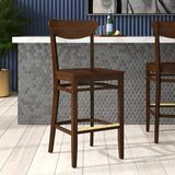 Regal Beechwood Moon Shape Back Wood Seat Bar & Counter Stool Wood in Brown, Size 44.5 H x 19.0 W x 19.0 D in | Wayfair R2510W