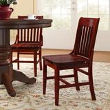 Regal Beechwood School House Solid Wood Seat Dining ChairWood in Brown/Red, Size 34.5 H x 19.0 W x 20.0 D in   Wayfair R454W