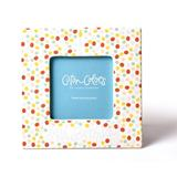 Coton Colors Dot Birthday Picture Frame Ceramic in Blue, Size 7.0 H x 7.0 W x 0.25 D in | Wayfair BDAY-7SQF-BL