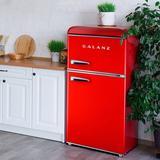 Galanz Retro 3.1 cu. ft. Freestanding Mini Fridge w/ Freezer Stainless Steel in Red, Size 35.16 H x 19.17 W x 23.31 D in   Wayfair GLR31TRDER