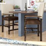 Hooker Furniture Hill Country Bar & Counter Stool Wood/Upholstered/Leather/Genuine Leather in Brown/Gray | Wayfair 5960-25350-BLK