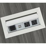 Safco Products Company Power & USB Outlet Plastic in Gray, Size 0.85 H x 7.25 W x 12.25 D in | Wayfair PM33SLV