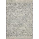 ED Ellen DeGeneres Crafted by Loloi Geometric Handmade Tufted Wool Blue/Ivory Area Rug Wool in White, Size 90.0 H x 60.0 W x 0.5 D in | Wayfair