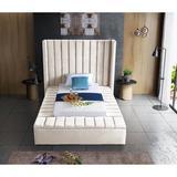 Everly Quinn Rick Solid Wood Tufted Upholstered Storage Platform Bed Upholstered/Velvet in Brown, Size 104.0 D in   Wayfair