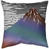 East Urban Home Katsushika Hokusai Fine Wind Clear Morning Euro Pillow Leather/Suede in Red/Blue/Brown, Size 26.0 H x 26.0 W x 2.0 D in | Wayfair