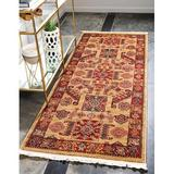 World Menagerie Lauri Southwestern Beige/Red Area Rug Polypropylene in Brown/Red, Size 120.0 H x 31.0 W x 0.5 D in | Wayfair