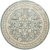 ED Ellen DeGeneres Crafted by Loloi Power Loom Area Rug Viscose in Blue, Size 94.0 H x 94.0 W x 0.25 D in | Wayfair TROUTX-07BB007A0R