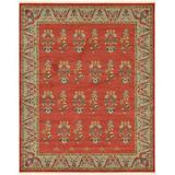 World Menagerie Lela Geometric Red/Gray/Olive Rug Polypropylene in Gray/Green/Red, Size 120.0 H x 96.0 W x 0.5 D in | Wayfair