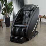 Inner Balance Wellness Reclining Heated Full Body Massage Chair w/ Ottoman Faux Leather in Black, Size 46.0 H x 31.5 W x 57.0 D in | Wayfair