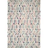Justina Blakeney x Loloi Hand-Hooked Wool Cream Area RugWool in White, Size 111.0 H x 0.5 W x 10.0 D in   Wayfair HALUHAL-01IVML93D0