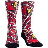 Louisville Cardinals Rock Em Socks Youth Logo Sketch Crew