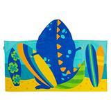 "Stephen Joseph Toddler Unisex Kids Bath and Beach Soft Cotton Velour Hooded Towel, 46""x24"", Dino, ONE SIZE"